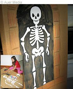 Halloween pyssel: ett skelett att skriva ut