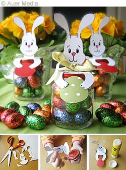 Pyssel - Påsk - Barn - Påskhare med chokladägg